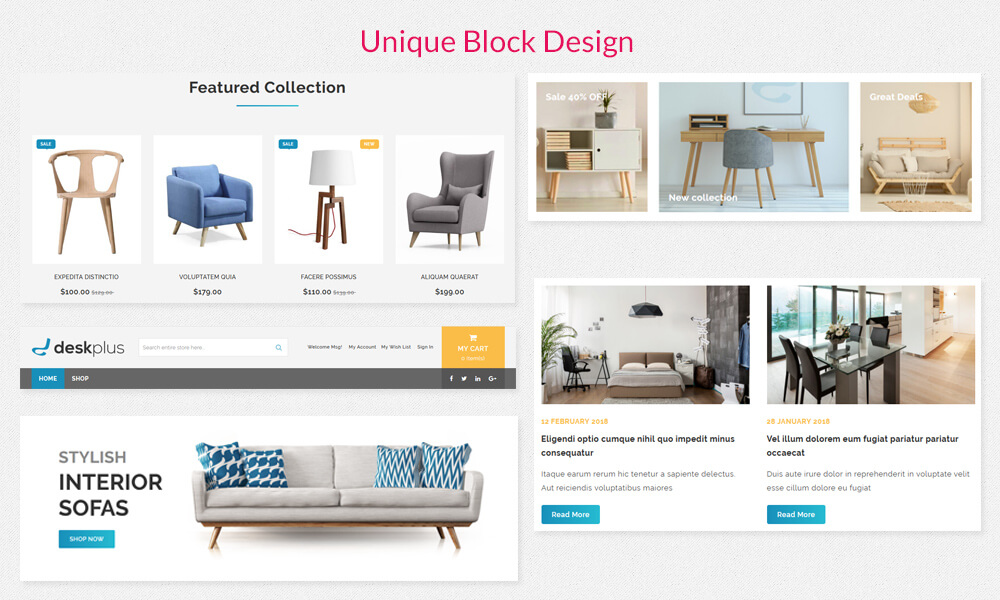 DeskPlus - Unique Blocks Designs