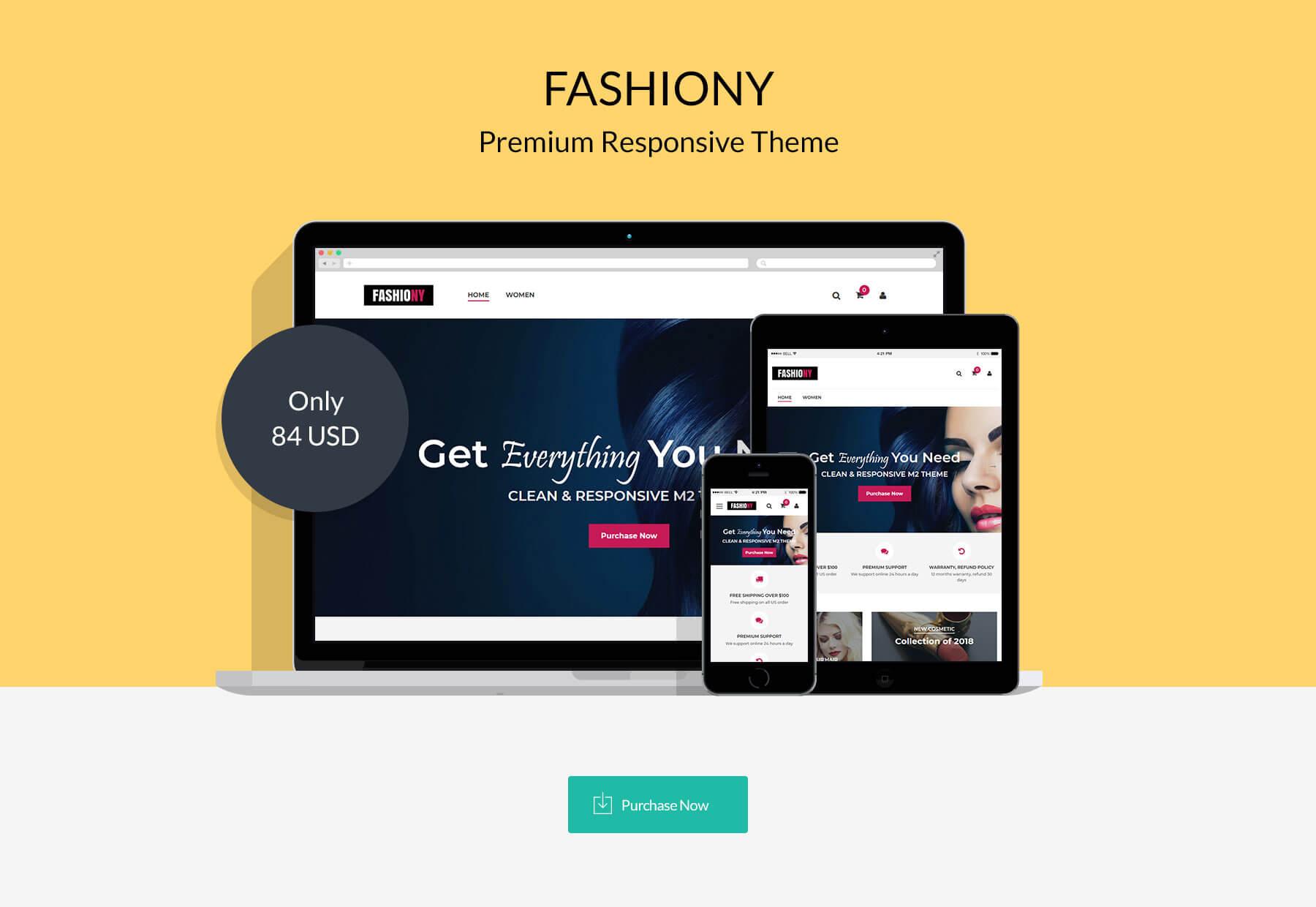 Fashiony - Responsive Magento 2 Theme