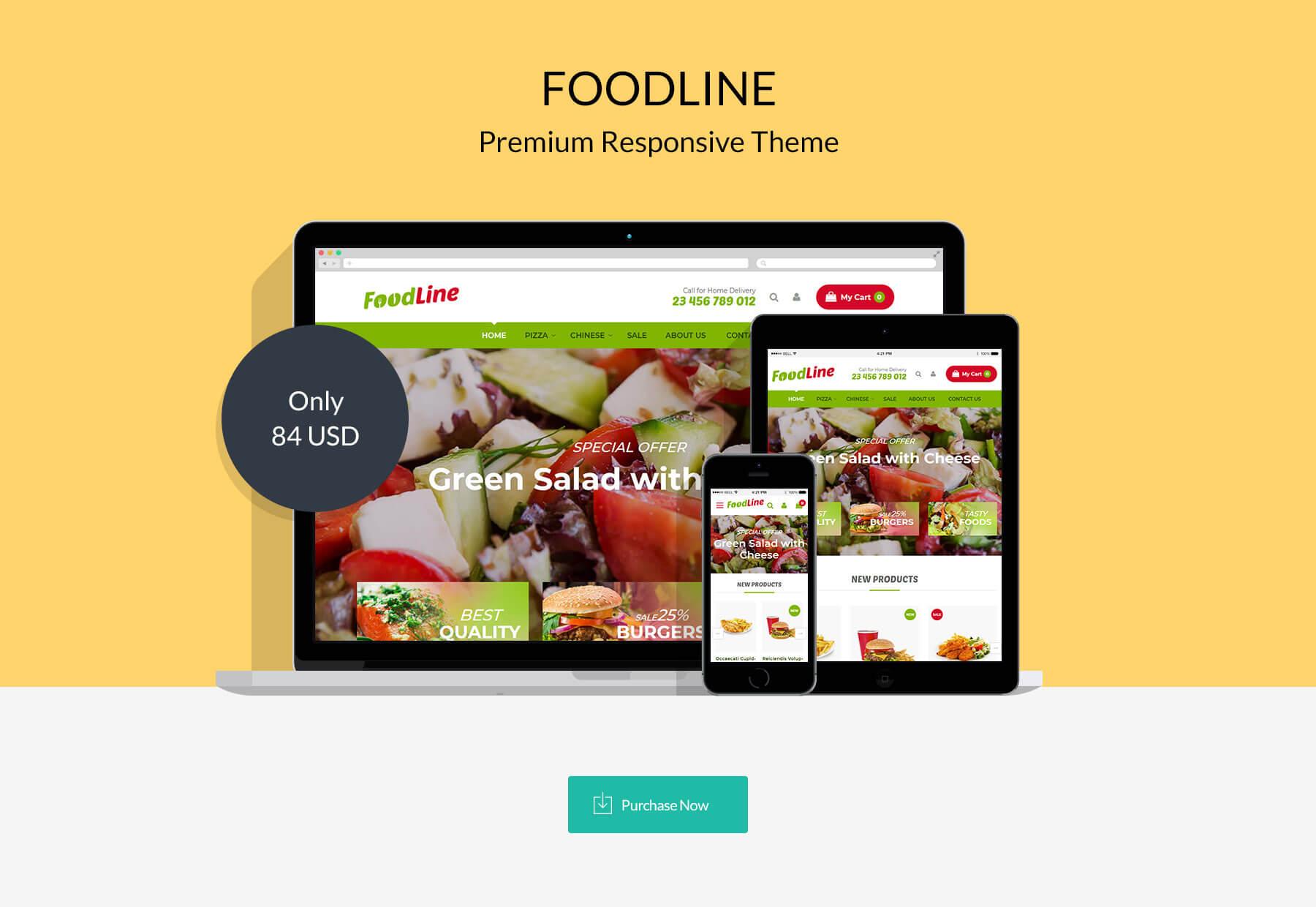 Foodline - Responsive Magento 2 Theme