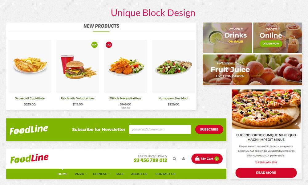 Foodline - Unique Blocks Designs