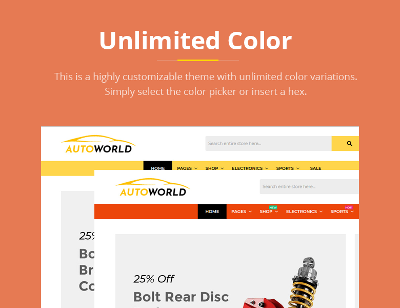 Unlimited Color Magento 2 Theme
