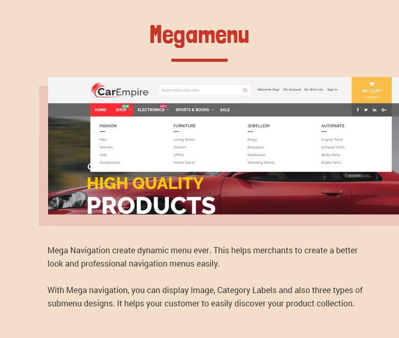 Magento 2 Theme with Mega Menu