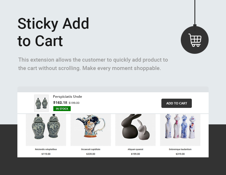 Sticky Add to Cart Magento 2 Them