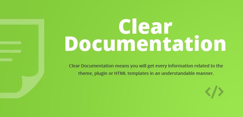 Clear Documentation Magento 2 Theme