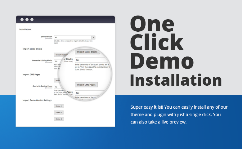One Click Demo Installation