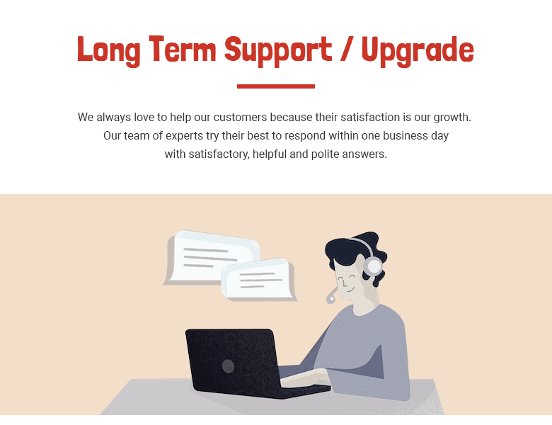 Long Term Support Magento 2 Theme