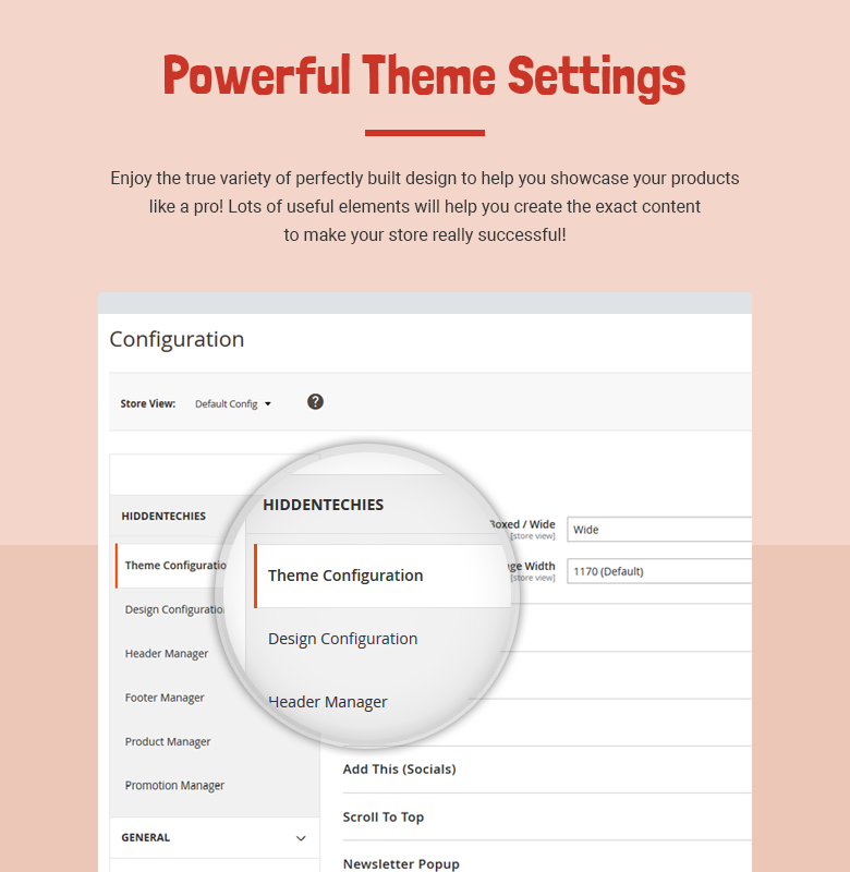 Powerful Theme Settings Magento 2 Theme