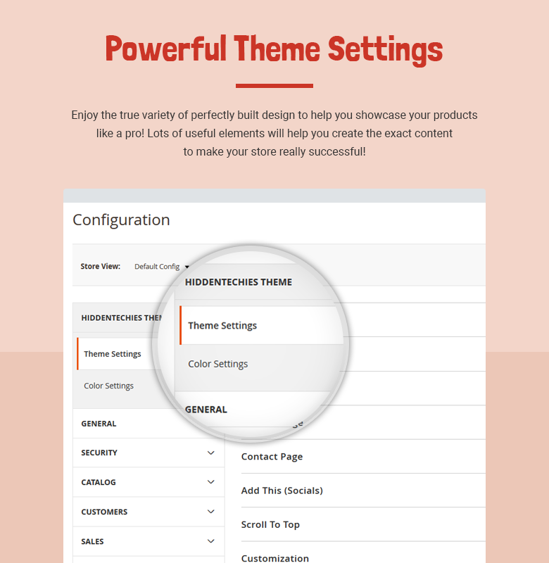 Powerful Theme Settings Magento 2 Theme