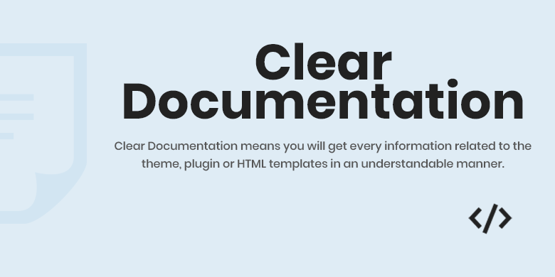 Clear Documentation Magento 2 Theme