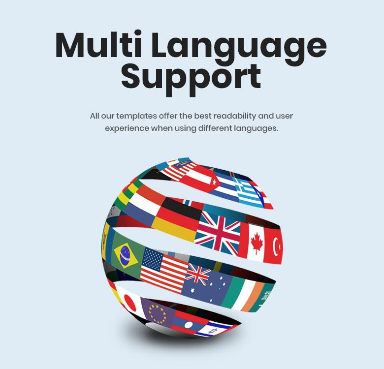 Multi Language Support Magento 2 Theme