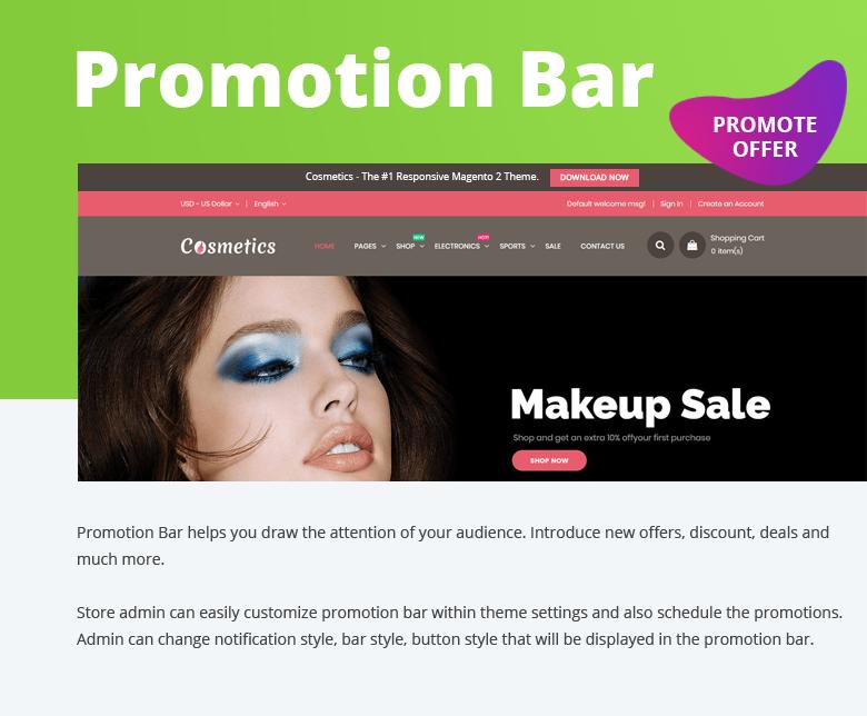 Promotion Bar Magento 2 Theme