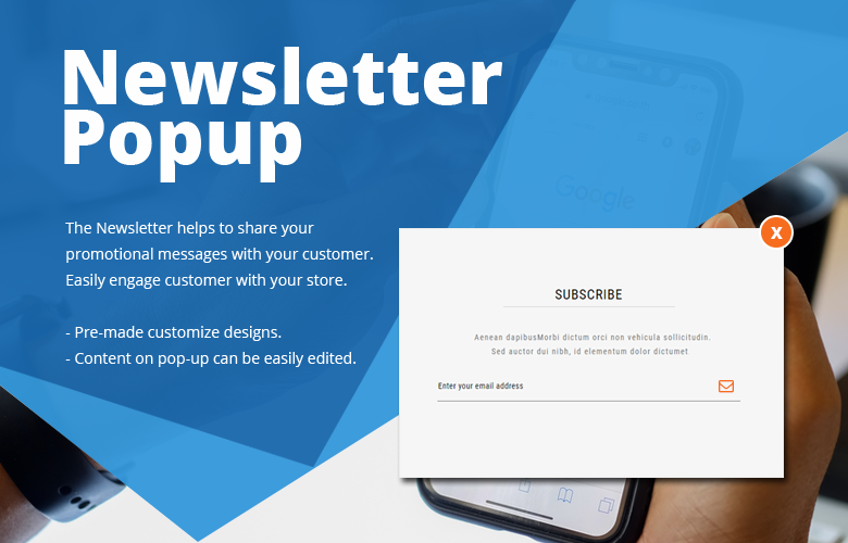 Newsletter Popup Magento 2 Theme