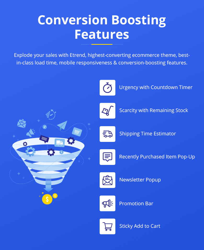 Etrend | Conversion Boosting Features