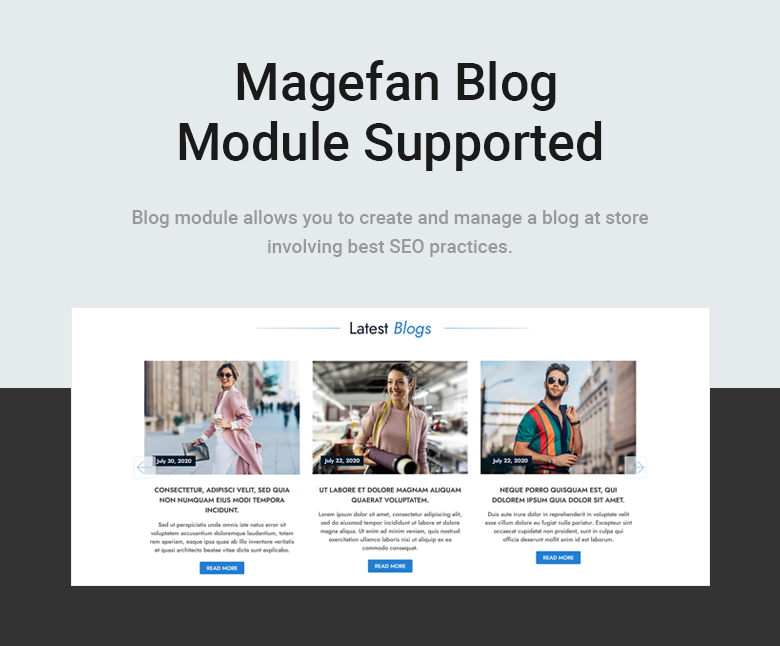 Blog Module Supported Free Magento 2 Theme