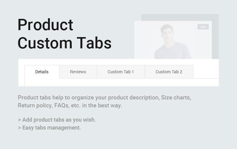 Product Custom Tabs Free Magento 2 Theme