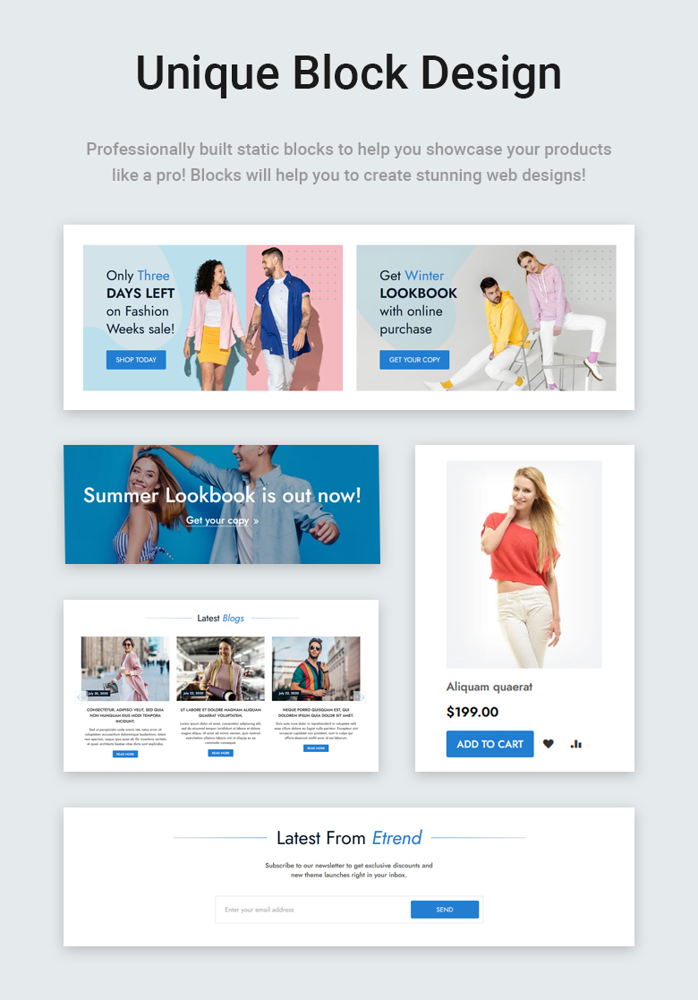 Unique Block Design Free Magento 2 Theme