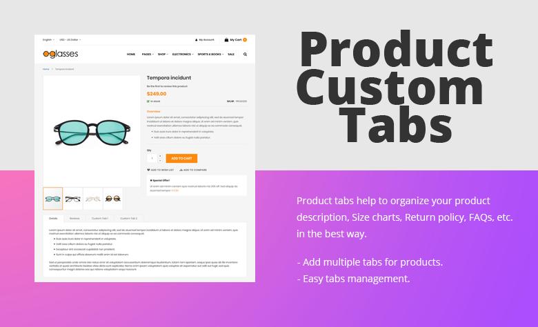 Product Custom Tabs Magento 2 Theme