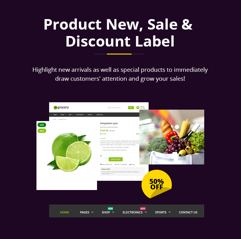Product Label Magento 2 Theme