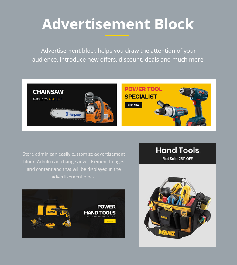 Advertisement Block Magento 2 Theme