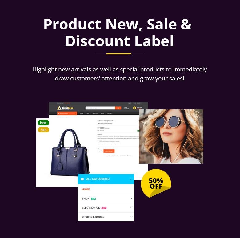 Product Label Magento 2 Theme