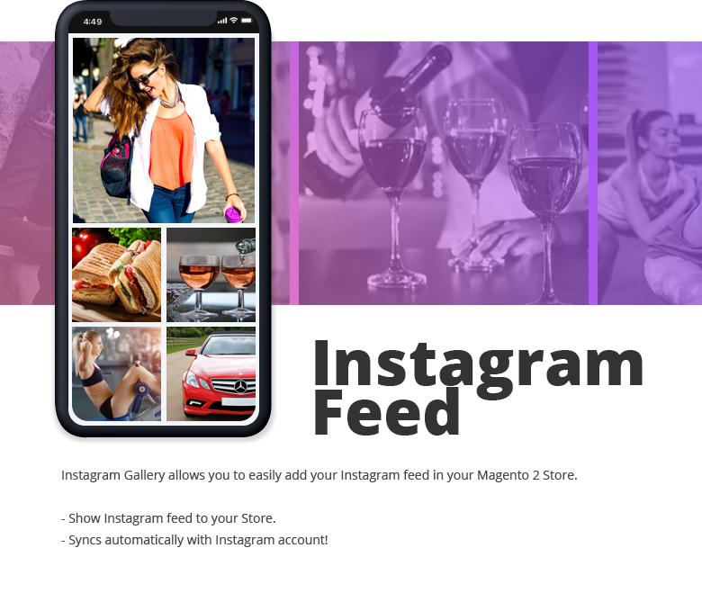 Instagram Feed Widget Magento 2 Theme