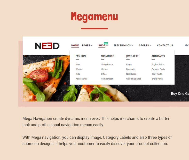 Magento 2 Theme with Mega Menu