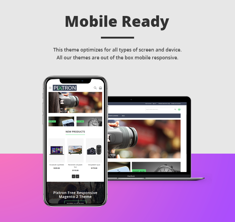 Mobile Ready Free Magento 2 Theme
