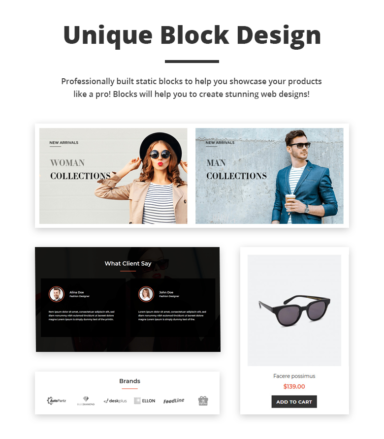 Unique Block Design Free Magento 2 Theme