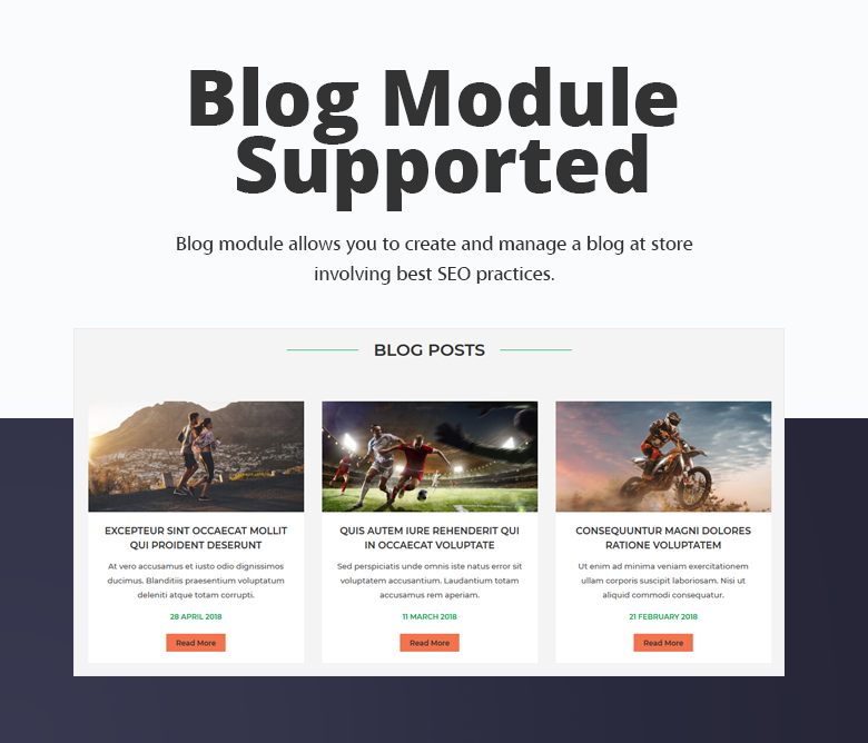 Blog Module Supported Magento 2 Theme