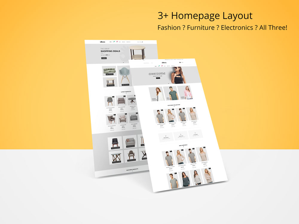 Sonice - Home page layouts