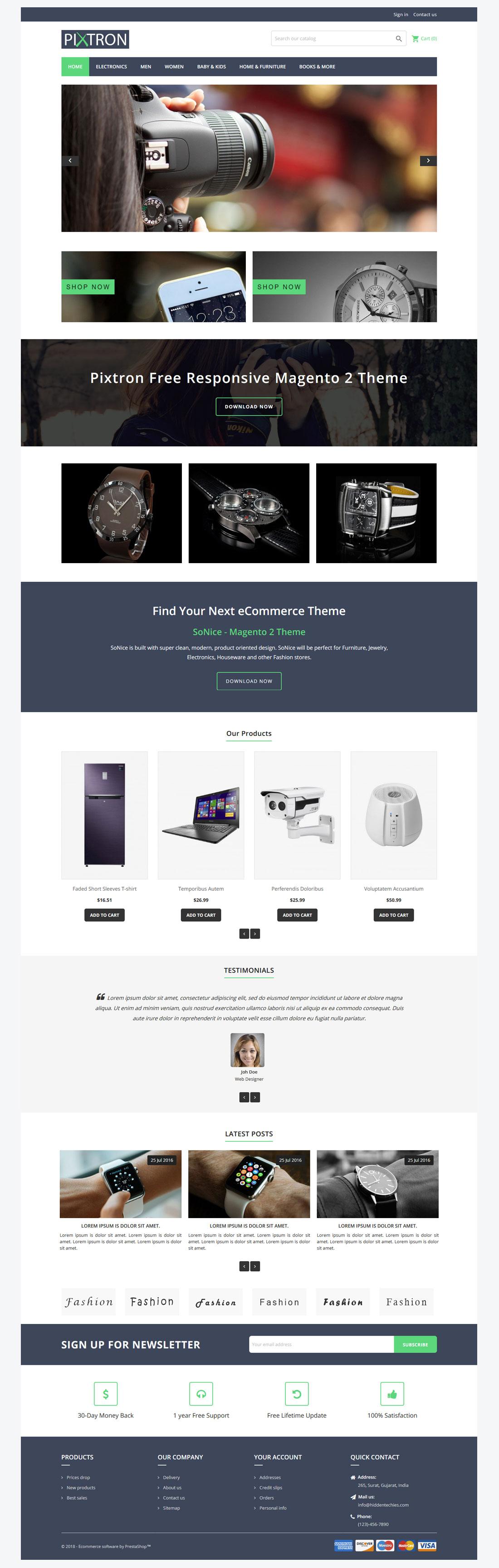 Prestashop Free & Premium Themes