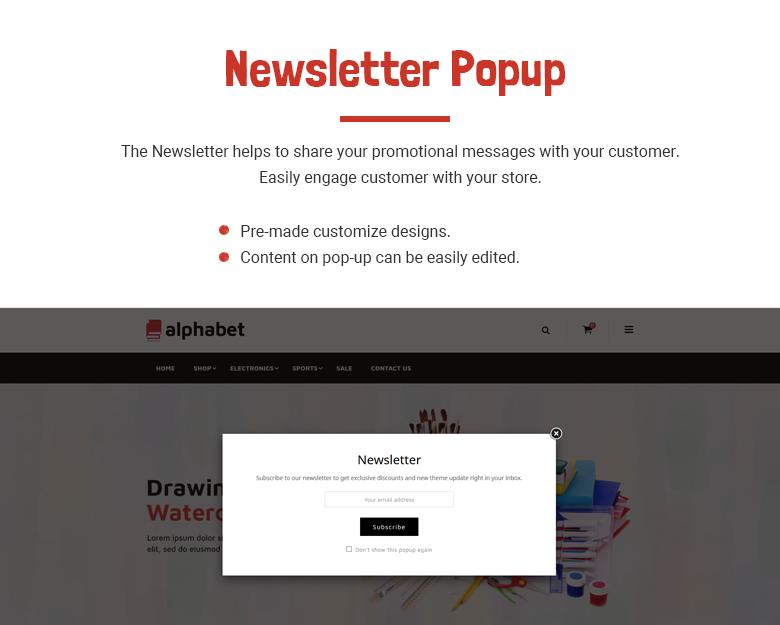 Newsletter Popup PrestaShop Theme