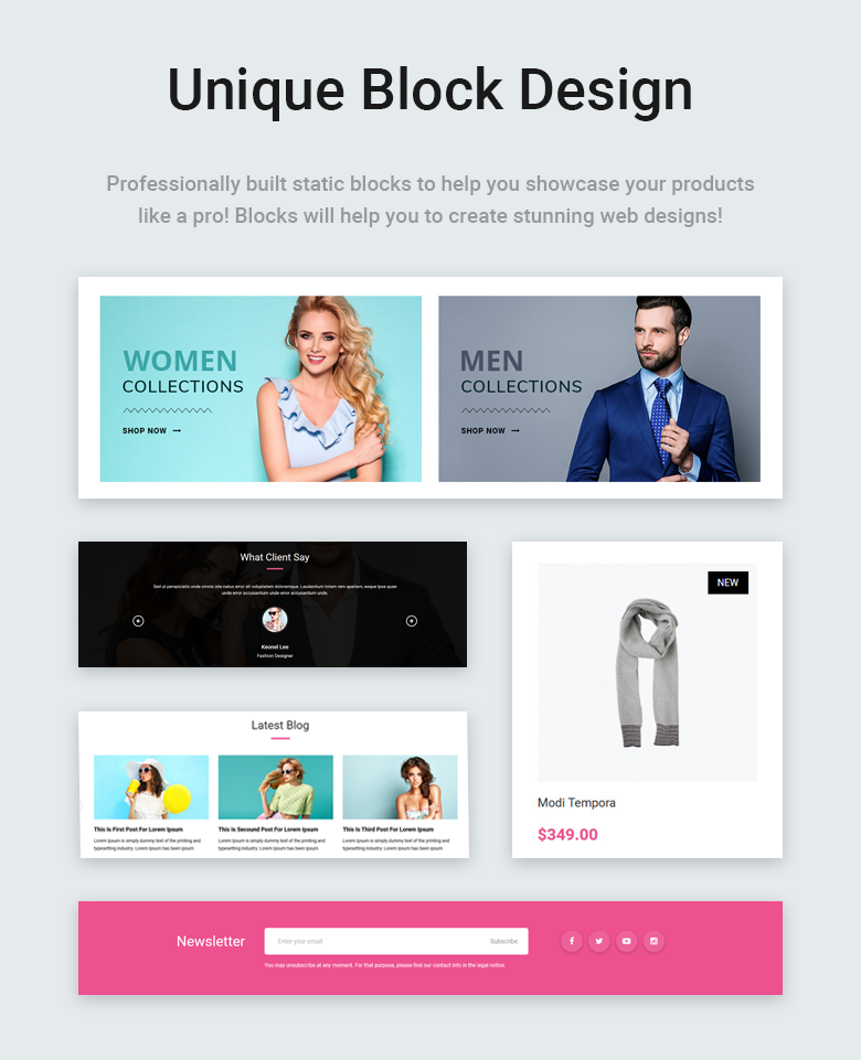Unique Block Design Free PrestaShop Theme