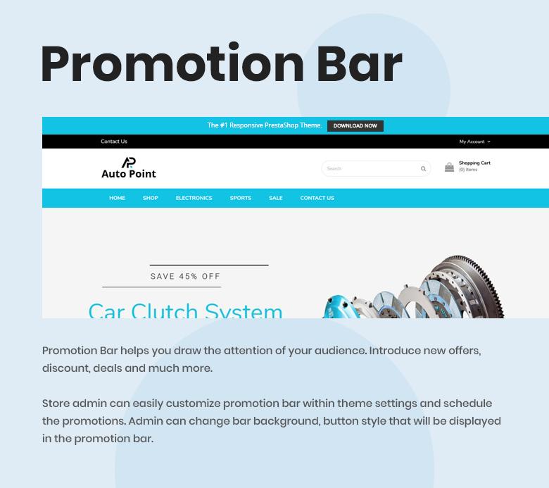 PrestaShop Theme with Promotion Bar