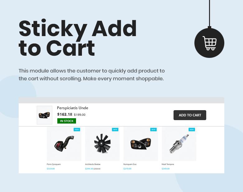 Sticky Add to Cart PrestaShop Theme