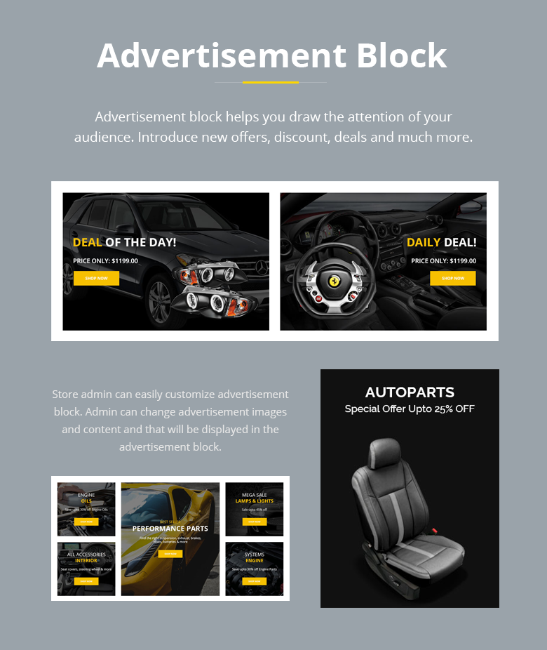Advertisement Block PrestaShop Theme