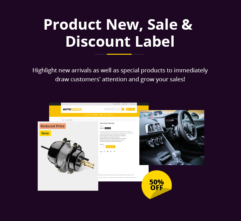 Product Label PrestaShop Theme