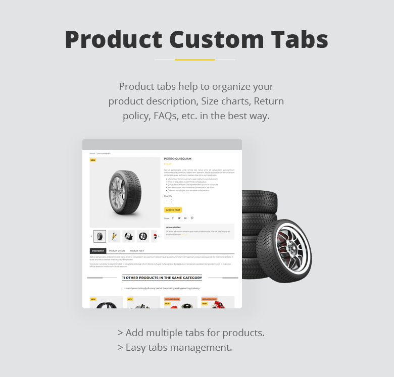 Product Custom Tabs PrestaShop Theme
