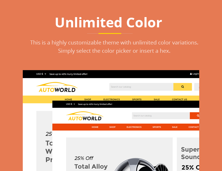 Unlimited Color PrestaShop Theme