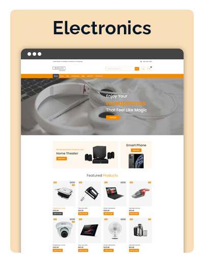 Bizkick Electronics Layout