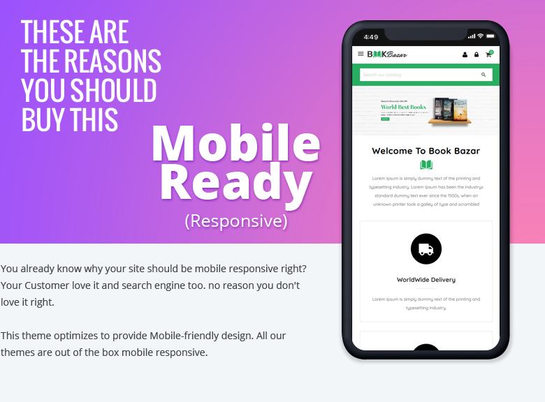 Mobile Ready PrestaShop Theme