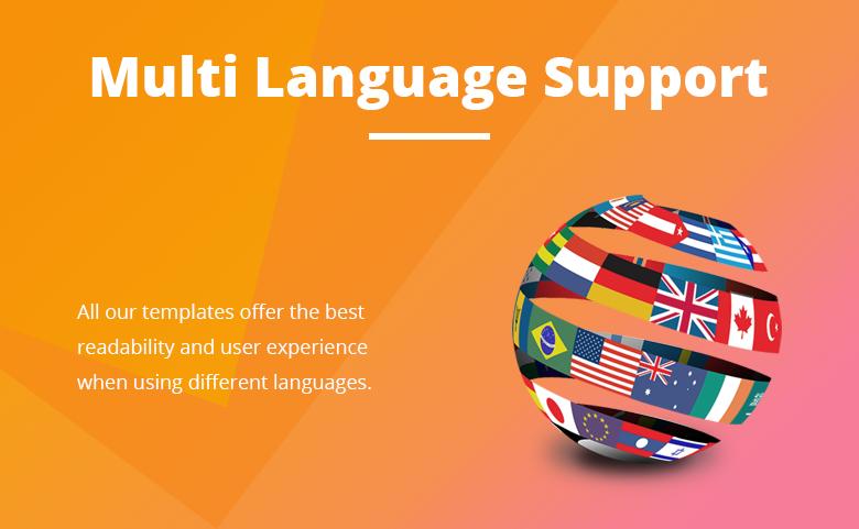 Multi Language Support Free PrestaShop Theme