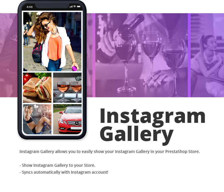 Instagram Gallery PrestaShop Theme