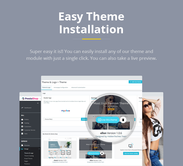 Easy Installation PrestaShop Theme