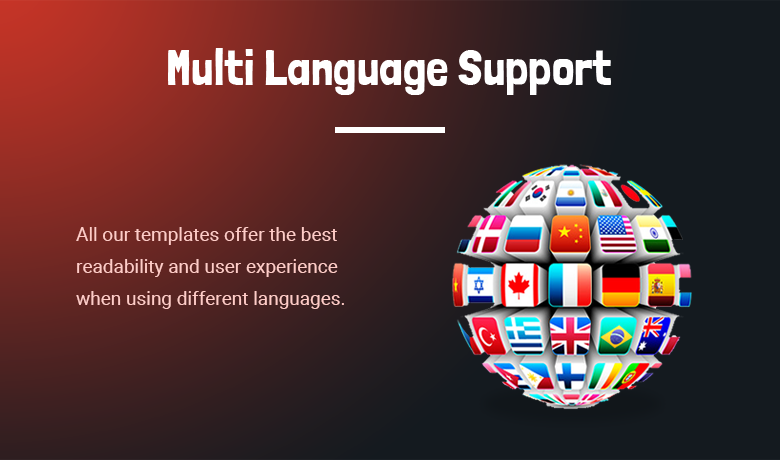 Multi Language Support PrestaShop Theme