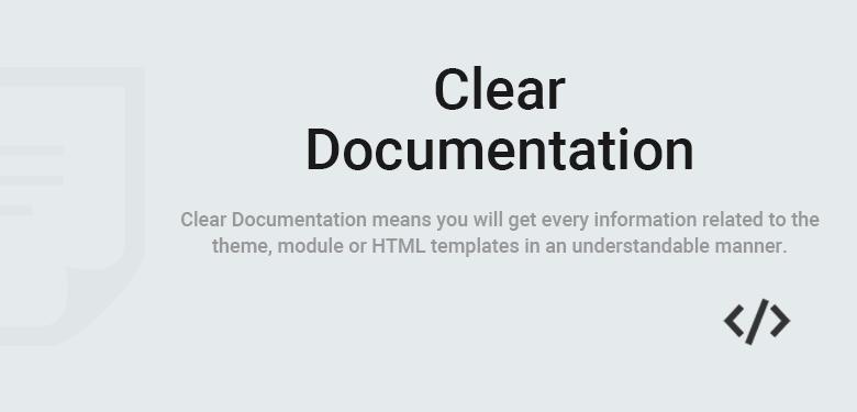 Clear Documentation PrestaShop Theme