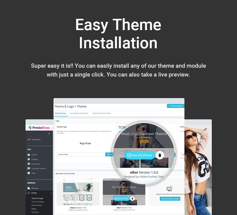 Easy Installation PrestaShop Theme