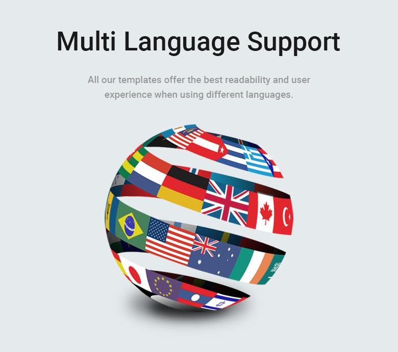 Multi Language Support PrestaShop Theme