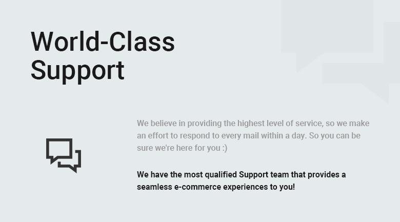 World Class Support PrestaShop Theme