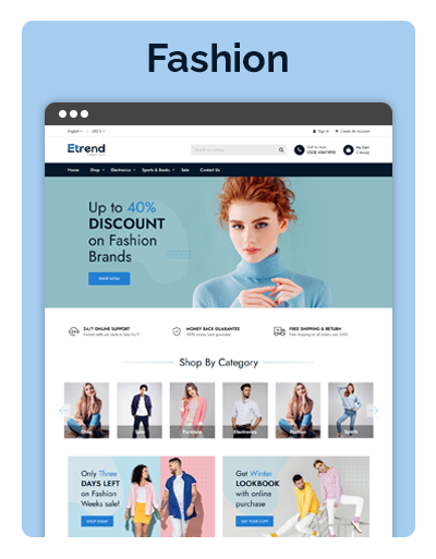 Etrend Fashion Layout